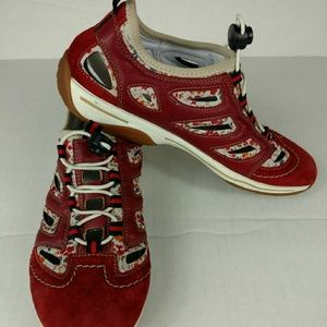 Rieker Women's Trainers in Red Suede  Size 6